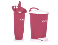 Trash Can And Toilet Brush - Plastic - Limon Brand