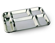 Compartment Plate With 6 Compartments - Steel - 0.6 mm Thickness - Model H251 - Negar Steel Brand