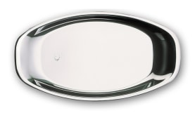 Steel Dish - Oval Shaped - 0.8 mm Thickness Size 180*330 mm - Model H238 - Negar Steel Brand