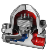 "Bimetallic Steam Trap - Threaded - Size: 1/2"" - Raddar"