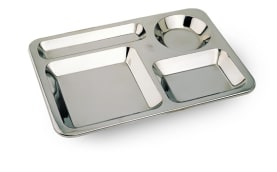Compartment Plate With 4 Compartments - Steel - 0.8 mm Thickness - Model H250 - Negar Steel Brand
