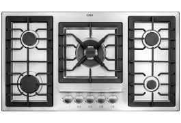 "Gas Cooker Hob - Built In Type, Steel Material, 5 Burner, With Thermocouple & Stainless Steel Cover - Model: 518S - ""Can"" Brand"