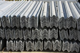 Galvanized Guardrail - 3*340*4170 mm - Ruein Saz Arak