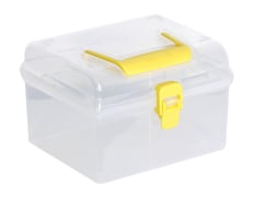 Storage Container - Plastic - Square - With Lid - Limon Brand
