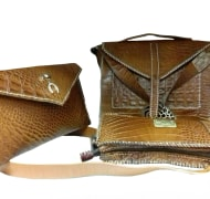 Leather Women Bag With 3-piece,Samina Brand