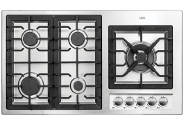 "Gas Cooker Hob - Built In Type, Steel Material, 5 Burner, With Thermocouple & Stainless Steel Cover - Model: 513SX - ""Can"" Brand"