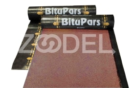 Waterproofing Membrane - Oxidized Bitumen - 1*10 sq.m. - Two Ply With Foil - 38 Kg - BituPars Brand