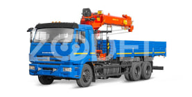 Truck with telescopic rope crane boom KAMAZ 65115