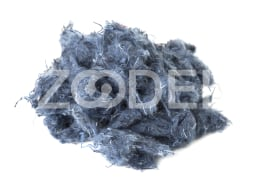 Regenerated Shoddy Fiber- 23 to 30 mm, Blue Color - Shokooh Sanat Varna Company