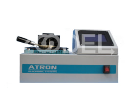 Flash Point (Open Cup) Measuring Device - With Fire & Flash Alarm & Environmental Pressure Sensor - Model: OFP-10 - Atron Company