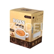 "Gaz Instant Coffee Powder Creamy - 100% Natural With 11% Pistachio - ""Boss"" Brand - 10 Pcs Package - Sekkeh Gaz Company"