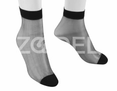 Women Mid Calf Socks - Plain - In Different Colors - Model : 191 - Mahan Baft Hany Company