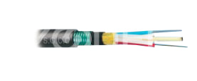 "Cable - Fiber Optic - For Telecommunication - Buried - Unfilled - With Water Swelling Tape And Yarn, And A Corrugated Steel Tape Shield - Brand ""S.G.C.C"""