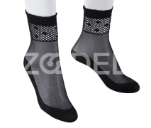 Ankle Length Socks For Women - With Laced Edge - In different Colors - Model : 350-2 - Mahan Baft Hany Company