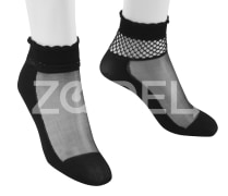 Ankle Length Socks For Women - With Laced Edge - In different Colors - Model : 350-3 - Mahan Baft Hany Company