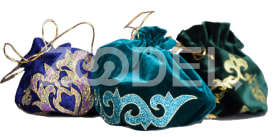 Bags with ornament