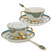"Tea Pair Set from the ""Turquoise"" Collection"