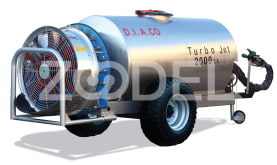Trailed Sprayer For Orchards - 1000 Liters, Steel Material, Automizer, Model: Turbo Jet - Tala Sepid Shargh Industry