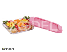 Baking Dish With Plastic Lid - Glass - Rectangular - Limon Brand - Size 3