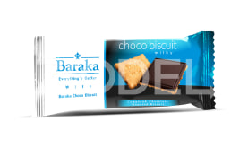Choco Biscuit in 4 Flavors - 40 g Package - Baraka Chocolate