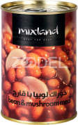 Canned Bean Meal With Mushrooms - 400 Gr Can - Mix Land Brand