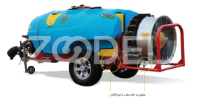 Trailed Sprayer For Orchards - 2000 Liters, Automizer, Model: Omega - Tala Sepid Shargh Industry