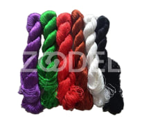 Hand-dyed natural mulberry silk threads for hand embroidery, cross stitch