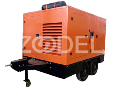 Diesel Generator With Mobile Chassis & Warning Lamp & Signs - Paivar Diesel Asia Company
