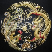 Chinese solid golden threads hand embroidery painting wall decor