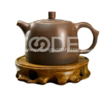 Qinzhou pure handmade teapot boutique nixing pottery works of Zhou Yujiao Yixing purple clay ore technology 230ml