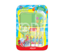 Finger Paint With Paint Roller And Tray - 3 Colors - Arya Company - 7020