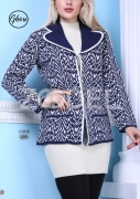 Women Jacket - Knitted, Buttoned, Code 255 - Ghoghnus Company