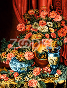 Pictorial carpet (Flower and vase)
