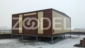 Modular transformer substation, made from sandwich panels, for voltage of 6/10/20 kV