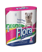 2 Roles Of Towel Tissues,Flora Brand