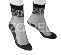 Ankle Length Socks For Women - With Laced Edge - In different Colors - Model : 350 - Mahan Baft Hany Company