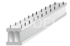 Void prestressed bridge plate П12-А14К7