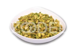 Pistachio Kernel - Skinned, Split, Yellow Color, HACCP & ISO22000 Certified - Sadaf Sabz Company