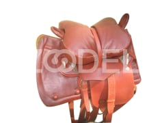 Set of Horse Saddle of the Great Steppe in Brown Color