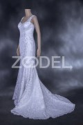 "Wedding Dress - Paneled & Mermaid Model - Guipure, Panama - Mehrnoush Design - Brand ""Fabra"""