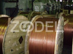 Contact wires made of copper and copper alloys