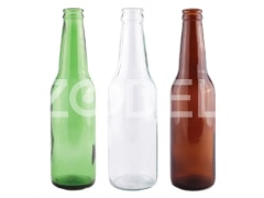 Bottle - Model Star, 300 CC, Available in White, Green, Brown - Mina Glass Co.