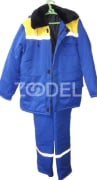 Set of winter overalls for workers