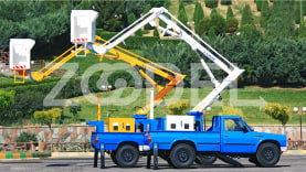 Articulated Truck-mount Lift (AL900) - fiberglass basket - Lajvar Company
