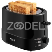 Aicok Toaster 2 slice, with 7 Toast Shade Settings and Defrost Functions, Easy to Clean, Keep Warm Toasters