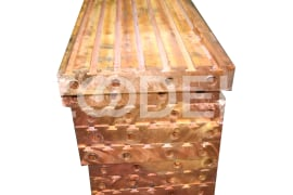 Copper water-cooled cast profiles (caissons)