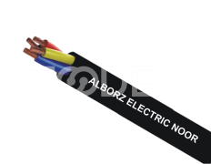 Hoist Cable - Round, Black, Copper & PVC Material, Suitable For Hoists & Moving Connections - Alborz Electric Noor Company