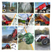 Types of trailers from 2 tons to 15 tons - all kinds of agronomic and gardening sprayers - BKV and front loader types