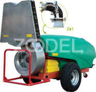 Trailed Agricultural Sprayer For Orchards - 2000 Liters, Dual Purpose 2*1, With Turbine - Tala Sepid Shargh Industry