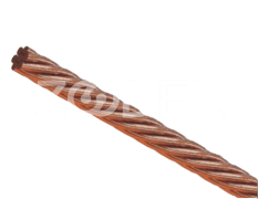 Non-Flexible Wire - Earth, Copper & PVC Material, With Twisted Conductor - Alborz Electric Noor Company